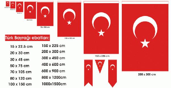 türk bayrağı çeşitleri